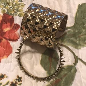 Jewelry - 4/$15 Set of Two Rockstar Cuff and Bangle NWOT